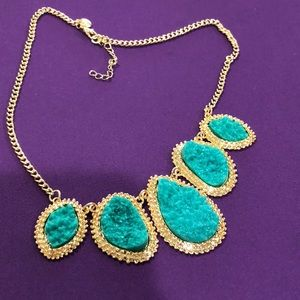 Jewelry - Amazon Boutique gold and jade necklace